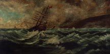 American School Moored in the Storm 19th Century