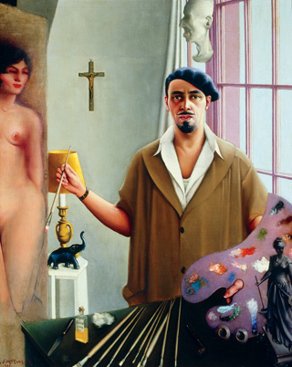 Archibald Motley, Self Portrait Me at Work