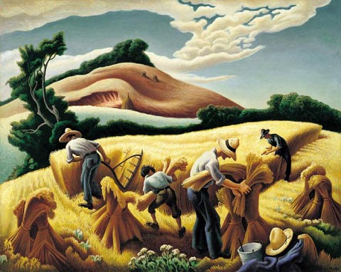 Thomas Hart Benton Cradling Wheat