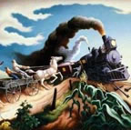 Thomas Hart Benton Wreck of the ol 97 Train Thumbnail