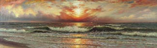 Richard Dey De Ribcowsky Sunset and Rolling Waves Midsized Thumbnail