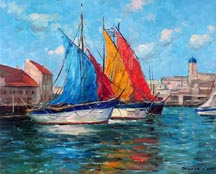 Alex Dzigurski Adriatic Fishing Boats