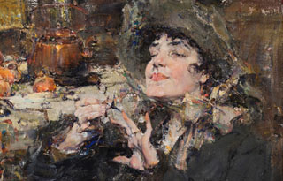 Nicolai Fechin Lady with Manicure