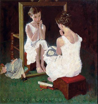 Norman Rockwell Girl and the Mirror