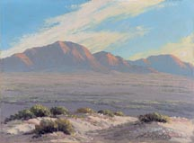 John W Hilton Desert Dunes and Mountains