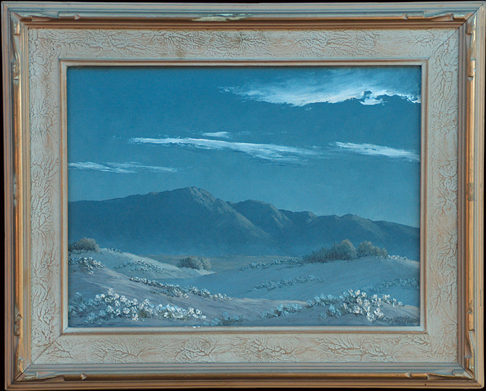 John W Hilton Moonlight in the Dunes with frame