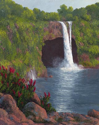 Rainbow Falls and Red Ginger John W Hilton Hilo Hawaii