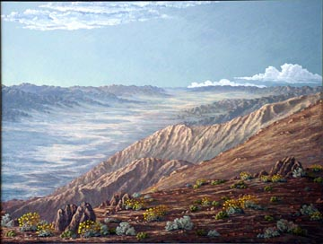 Kathi Hilton's painting Death Valley Visitors Center
