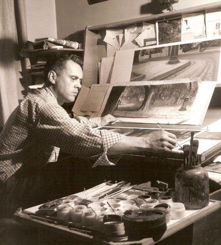 Ralph Hulett working at Disney Studio 1940's