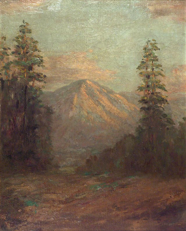 Frederick Stymetz Lamb Mountain and Evergreens