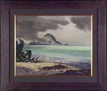 Robert Landry Hawaiian Beach Scene with Seagull