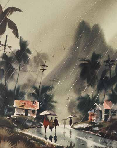 Robert Landry Hawaiian Rain Painting