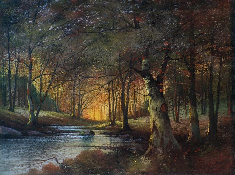 Harry Linder Trees and Stream