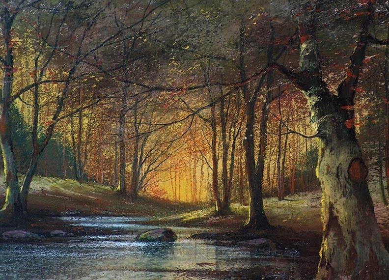 Harry Linder Trees and Stream Closeup