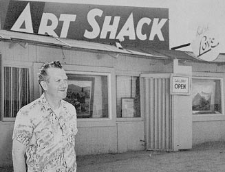 Ralph Love outside the Art Shack Temecula California