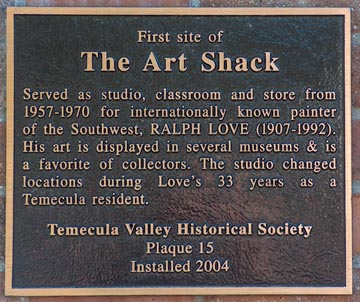 Ralph Love Art Shack Temecula
