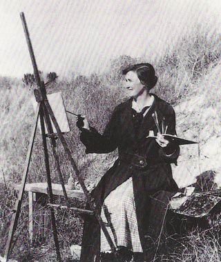 Mary Buff at Easel
