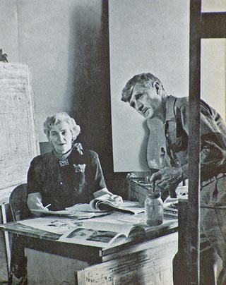Mary and Conrad Buff in Painters of the Desert