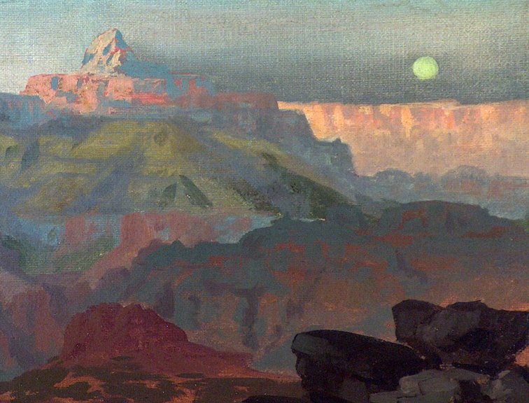 Ralph Davison Miller Grand Canyon 1905 Closeup