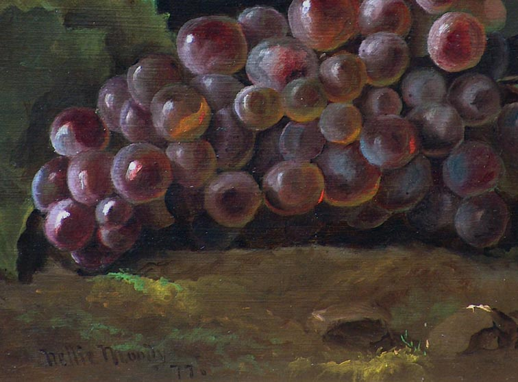 Nellie Moody Grapes 1877 Closeup