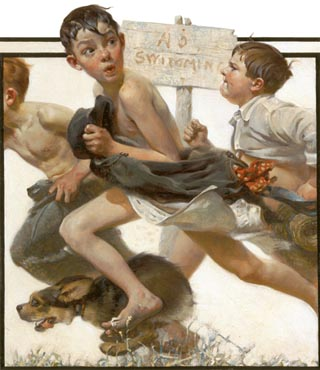 Norman Rockwell No Swimming