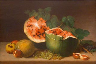 James Peale Watermelon Still Life 1824