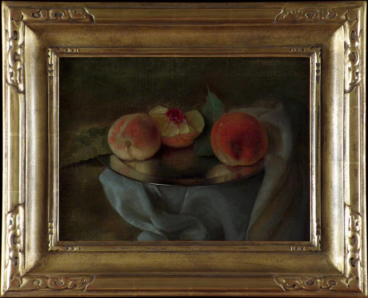 Carducius Plantagenet Ream Peaches on Silver 1909 with Frame