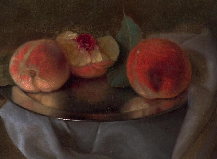 Carducius Plantagenet Ream Peaches on Silver 1909 Closeup