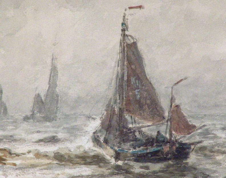 William Ritschel Boats in the Surf Closeup
