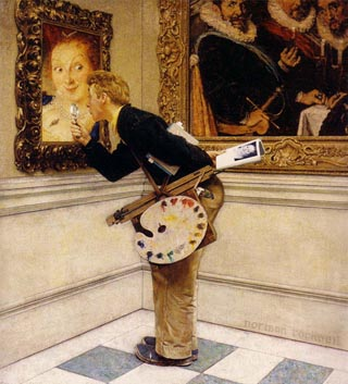 Norman Rockwell The Art Critic