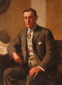 Stephen Seymour Thomas Portrait of Woodrow Wilson