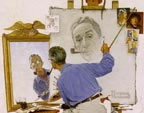 Norman Rockwell Triple Self Portrait Thumbnail