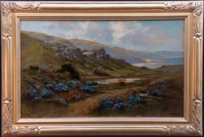 Manuel Valencia Lupines by the Monterey Coast Midsized Thumbnail