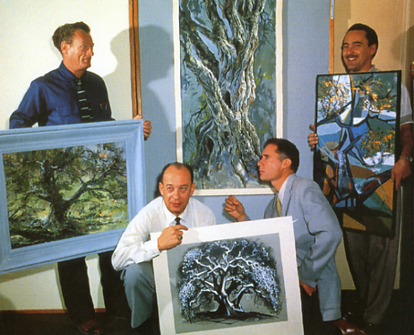 Four Artists Paint One Tree Joshua Meador, Marc Davis, Eyvind Earle, and Walt Paragoy