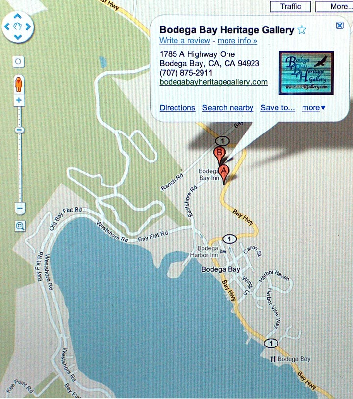 BBH Gallery Map in Bodega Bay