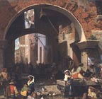 Albert Bierstadt Roman Fish Market Gate of Octavia Thumbnail
