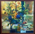 Marjorie Blake Blue and Gold Stilllife Thumbnail