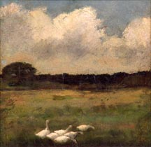 John Appleton Brown White Geese Midsized Thumbnail