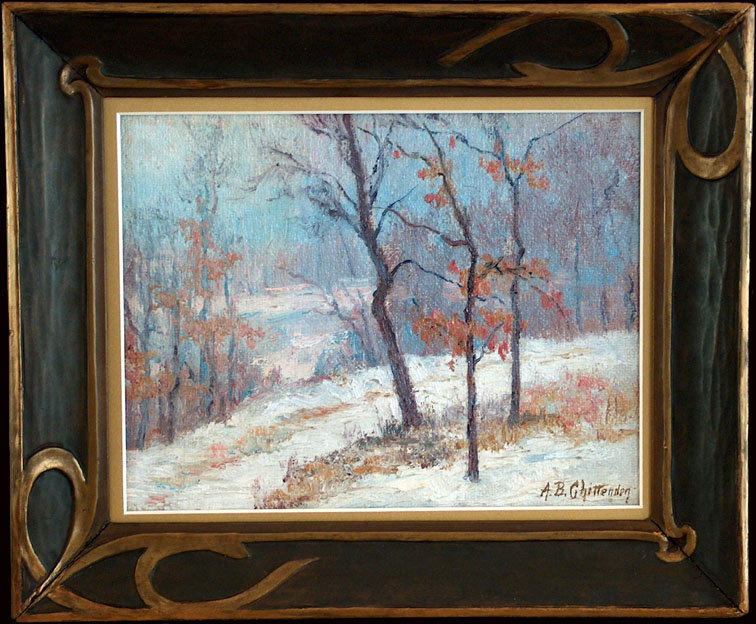 Alice Chittenden A Path in the Snow with Frame