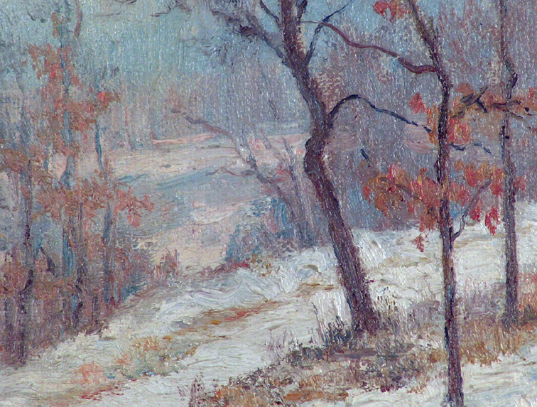Alice Chittenden A Snow Covered Path Closeup