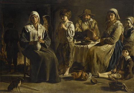 Peasant Family in an Interior Louis LeNain 1642 the Louvre, Paris