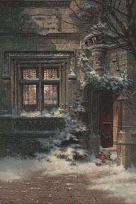 Edwin Deakin Christmas Morning Hotel de Cluny in Paris