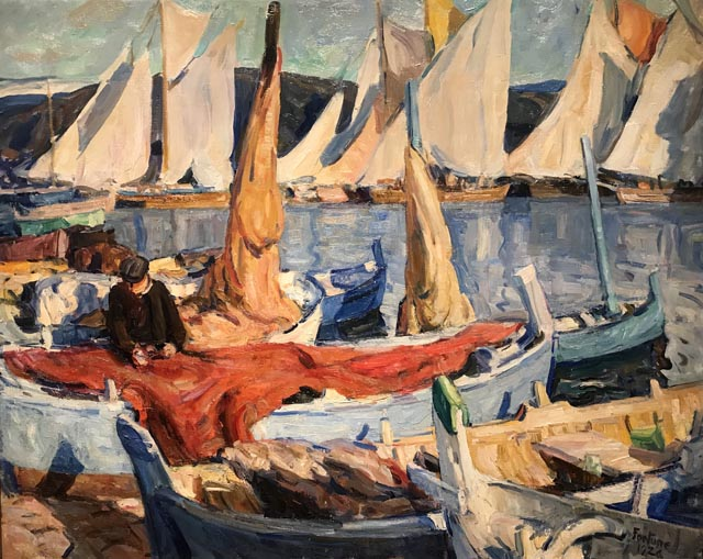 Drying Sails, St. Tropez, 1926 Monterey Museum of Art