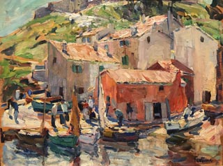 The Old Port, St. Tropez, c1925 Collection of Sandy Gmur Lansdale