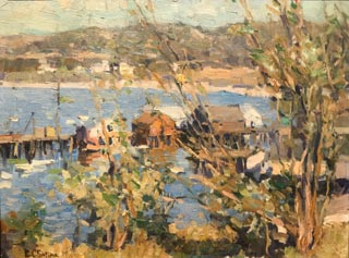 Study for Monterey Bay - Late AFternoon, 1916 Collection of Elizabeth G. Lampen