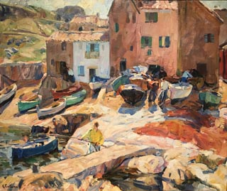 The Foreshore, St. Tropez, c1924-27 City of Monterey, deHaven / Jacks Collection