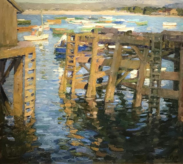 The Pier, 1914 (Hung in Gallery 71, Palace of Fine Arts at the Panama-Pacific Exposition  and won the silver medal. Private Collection