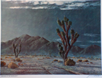 John W Hilton Print Joshuas in the Moonlight Thumbnail