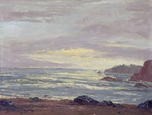 John W Hilton Seascape at Sunset Midsized Thumbnail