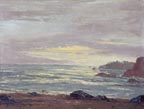 John W Hilton Seascape at Sunset Thumbnail